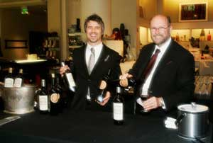 The Rubicon Estate team...the evening's wine sponsor