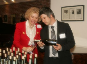 Lamar Ingle pouring for Catharina Swanstrom of Pacific Untion GMAC Real Estate
