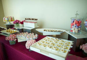 Yigit Pura's fabulous dessert bar provided by Taste Catering