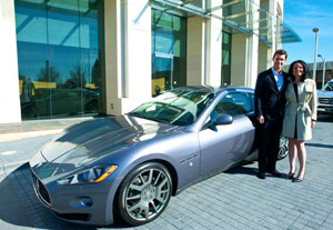 Jeff Lewis & Jenni Pulos add sparkle to a new Maserati