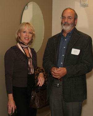 Nancy Zerella, Zerella Design, with Dudley Miller of Muratone