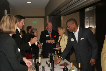 Kenneth Winn, Merrill Lynch being served by Ed Curry, HALL Wines