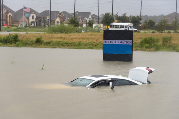 Insurance Post Harvey flooded sedan